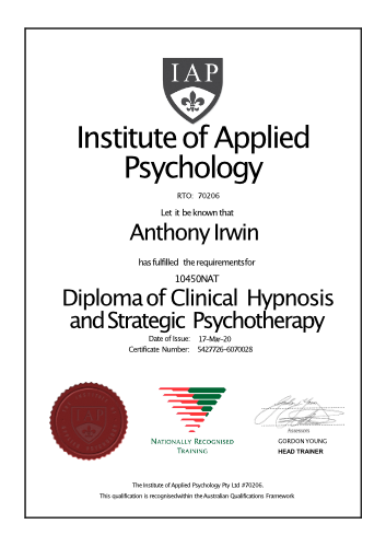 Diploma of Clinical Hypnosis and Strategic Psychotherapy
